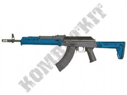 CM.077A BB Gun Antonov-T Custom AK47 Replica AEG Electric Airsoft Rifle 2 Tone Blue Black